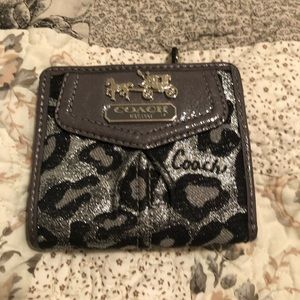 Coach Leopard Print Wallet
